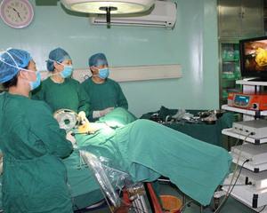 张凤平主任在做腹腔镜手术